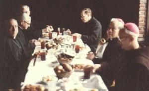 Dinner with Bp. Musey, Fr. Vida, Fr. McKenna, Bp. Vezelis.
